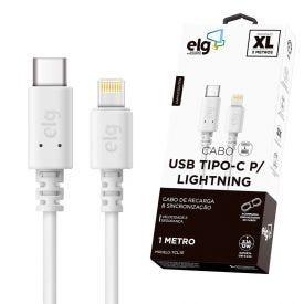 Cabo Lightning Usb Tipo-C 1 Metro Elg Tcl10 - Branco