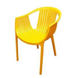 Cadeira Poltrona Com Braços Columba Plasutil - Amarelo