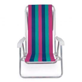 Cadeira Reclinável Alumínio 8 Posições Sortida Mor - 2104