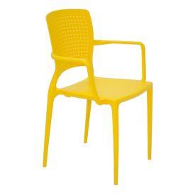 Cadeira Safira Com Braços Amarela Tramontina - Amarelo