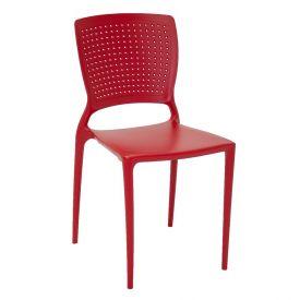 Cadeira Safira Vermelha Sem Braços Tramontina - 92048/040