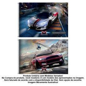Caderno Cartografia Cd X-Racing 80 Folhas Tilibra - 306126