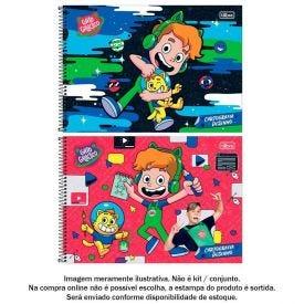 Caderno De Cartografia Gato Galactico 80 Folhas Tilibra - 319759