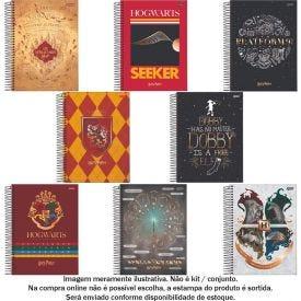 Caderno Espiral 10 Matérias College Harry Potter 160 Folhas Jandaia - 69502-21