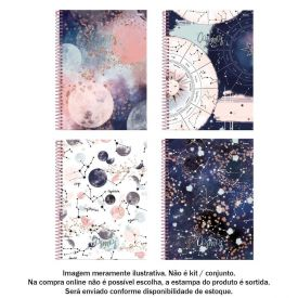 Caderno Espiral 10 Matérias Cosmos 160 Folhas Foroni - 31.6544-1