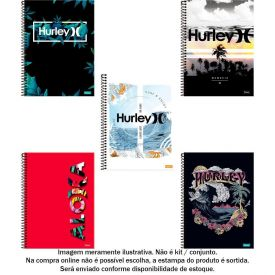 Caderno Espiral 10 Matérias Hurley 160 Folhas Foroni - 33.6891-1