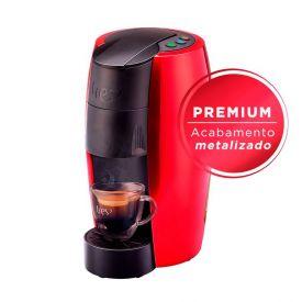Cafeteira Espresso TRES LOV Premium Vermelha 3 Corações