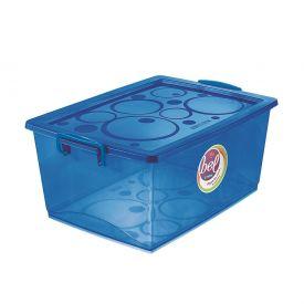 Caixa Organizadora Bel com Travas 15 litros Ordene - AZUL