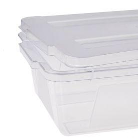 Caixa Organizadora Com Tampa 30 Litros Dup - Transparente