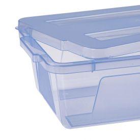 Caixa Organizadora Com Tampa 30 Litros Dup - Azul Translucido