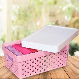 Caixa Organizadora Quadratta Paramount - Rosa