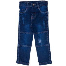 Calça 1 a 3 anos Jeans Comfort + Recortes e Puídos Yoyo Kids