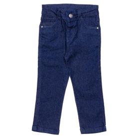 Calça 1 a 3 Anos Jeans Comfort Amassado Yoyo Kids Azul Marinho
