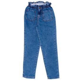 Calça 12 a 16 anos Jeans Clochard Bolsos Frontais Marmelada Azul
