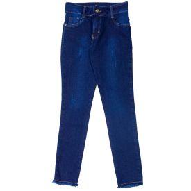 Calça 12 a 16 anos Jeans Jegging com Puídos Marmelada Jeans