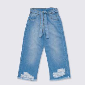 Calça 12 a 16 anos Jeans Pantacourt Marmelada Jeans
