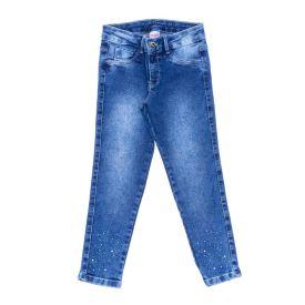 Calça 4 a 10 Anos com Aplique Marmelada Jeans