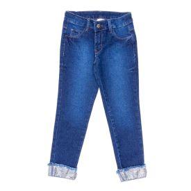 Calça 4 a 10 Anos com Aplique Paetê Marmelada Jeans