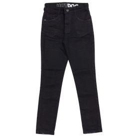 Calça 4 a 10 Anos Jeans Black Skinny Hot Dog Preto