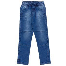 Calça 4 a 10 Anos Jeans Elástico Cós Hot Dog Jeans