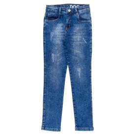 Calça 4 a 10 Anos Jeans Skinny com Estampa Cós Hot Dog Jeans