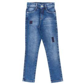 Calça 4 a 10 Anos Skinny Jeans com Patch Hot Dog Jeans