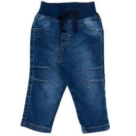 Calça de Bebê Jeans Cós em Ribana Yoyo Baby Azul