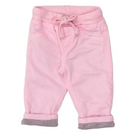 Calça de Bebê Sarja + Cordão Alakazoo Rosa