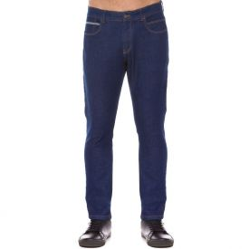 Calça Jeans Amaciada Slim Marc Alain Blue Escuro