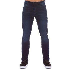 Calça Jeans Básica Slim Marc Alain Blue Médio