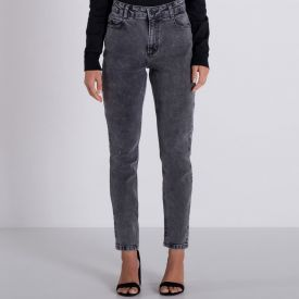 Calça Jeans Black Skinny Marmorizada Boby Blues