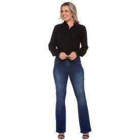Calça Jeans Bootcut Patrícia Foster Azul