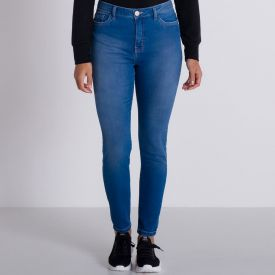 Calça Jeans Comfy Básica Patrícia Foster Azul Medio