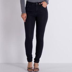Calça Jeans Comfy Skinny com Bolsos Patrícia Foster Preto