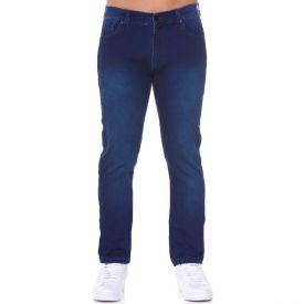 Calça Jeans em Malha Denin Marc Alain Azul Escuro