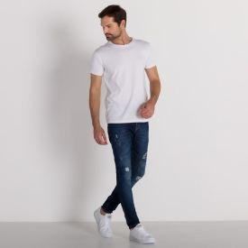 Calça Jeans Fit Rock&Soda Azul Escuro