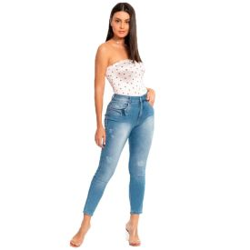 Calça Jeans Mom Biotipo Azul Medio