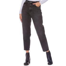 Calça Jeans Mom com Aplicação Zune By Sabrina Sato Preto