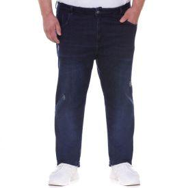 Calça Jeans Plus Size Marc Alain Dark Blue