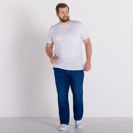 Calça Jeans Plus Size Média Marc Alain Blue Escuro