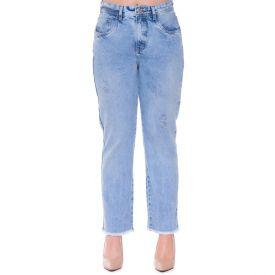 Calça Jeans Reta Patrícia Foster Azul Ceu Claro