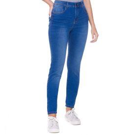 Calça Jeans Skinny com Bolsos Patrícia Foster Azul Medio
