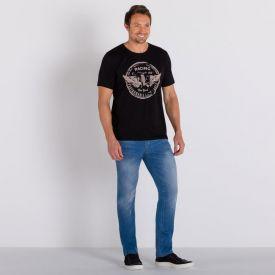 Calça Jeans Slim Bigodes Marc Alain Blue Medio