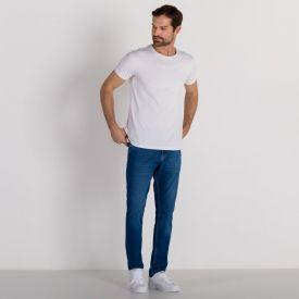 Calça Jeans Slim Bigodes Médio Marc Alain Blue Escuro