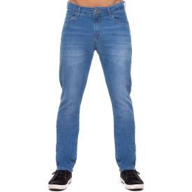 Calça Jeans Slim com Bigodes Laser Marc Alain Blue