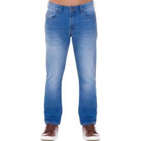 Calça Jeans Slim com Detalhes de Bigodes Marc Alain Blue Medio