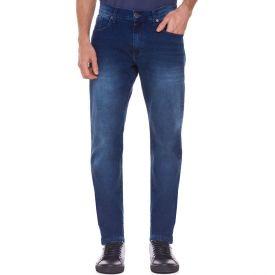 Calça Jeans Slim em Lavagem com Detalhes Marc Alain Estonado