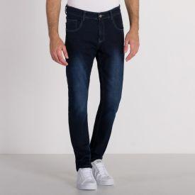 Calça Jeans Slim Ponto Luz Marc Alain Blue Escuro