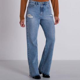 Calça Jeans Wide Leg Marmorizada Boby Blues Blue Claro