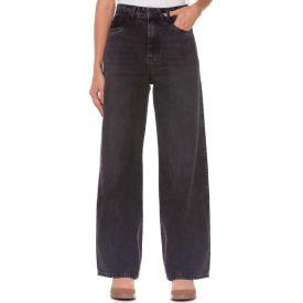 Calça Jeans Wide Leg Zune By Sabrina Sato Preto
